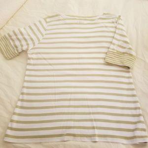 Pendleton Shirt Top Green and White